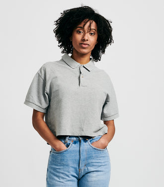 Rework Cropped Polo & Scrunchie