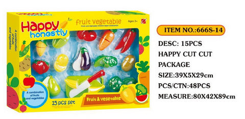 Cutting Fruits Set 666S 14 - Evergreen Toys