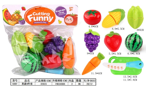 6307 Cutting Fruits - Evergreen Toys