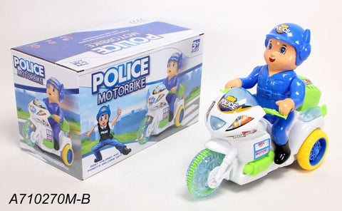 648 Police Motorcycle - Evergreen Toys