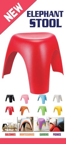 Evergreen Elephant Stool - Evergreen Toys
