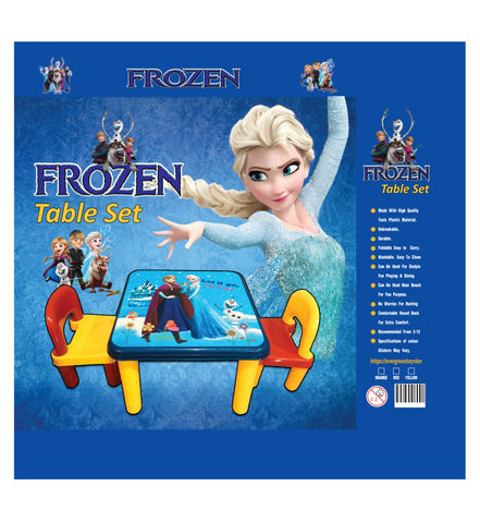 Evergreen Jumbo Table With Two Chairs (Frozen) - Evergreen Toys