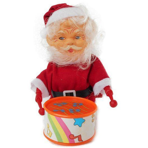 Wind Up Drum Beating Santa - Evergreen Toys