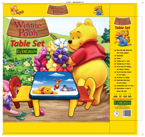 Evergreen Jumbo Table With Two Chairs (Pooh) - Evergreen Toys