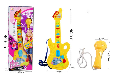 BY-726 Guitar with Mic - Evergreen Toys