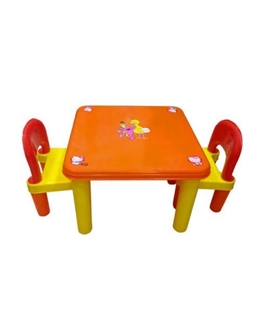 Evergreen Jumbo Table With Two Chairs - Evergreen Toys