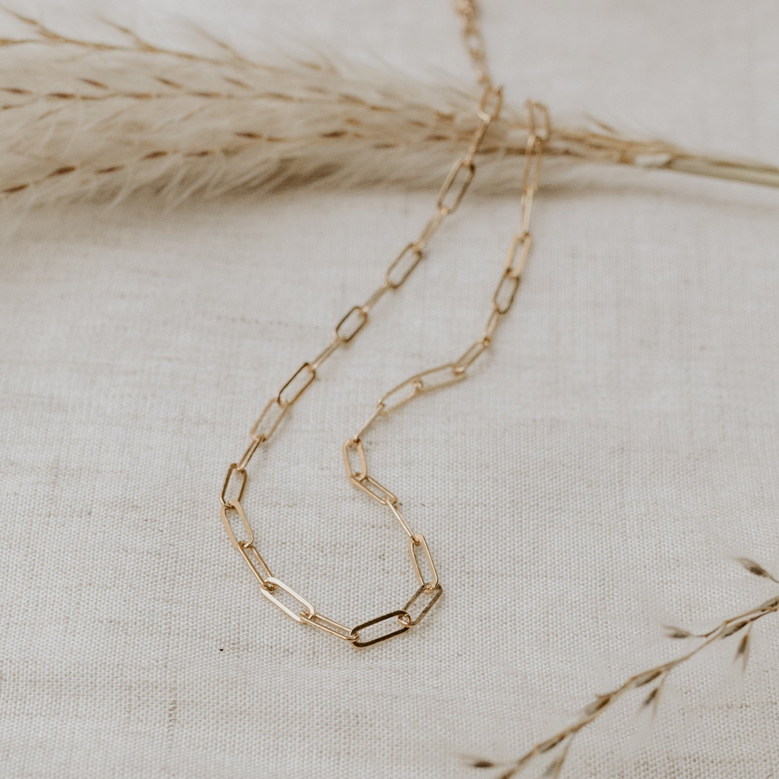 Delicate Gold Filled paperclip chain bracelet