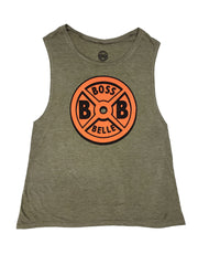 BossBelle-Weightplate-Muscle-Tank
