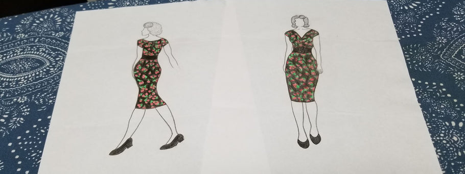 Dress Designing: 1950s-Inspired Cherry Fashion
