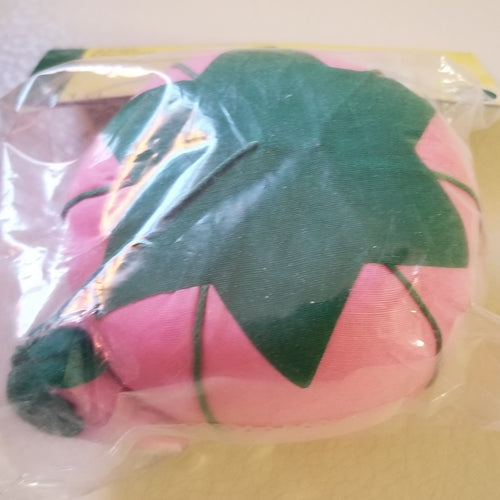 Large Pink Tomato Pin Cushion With Emery