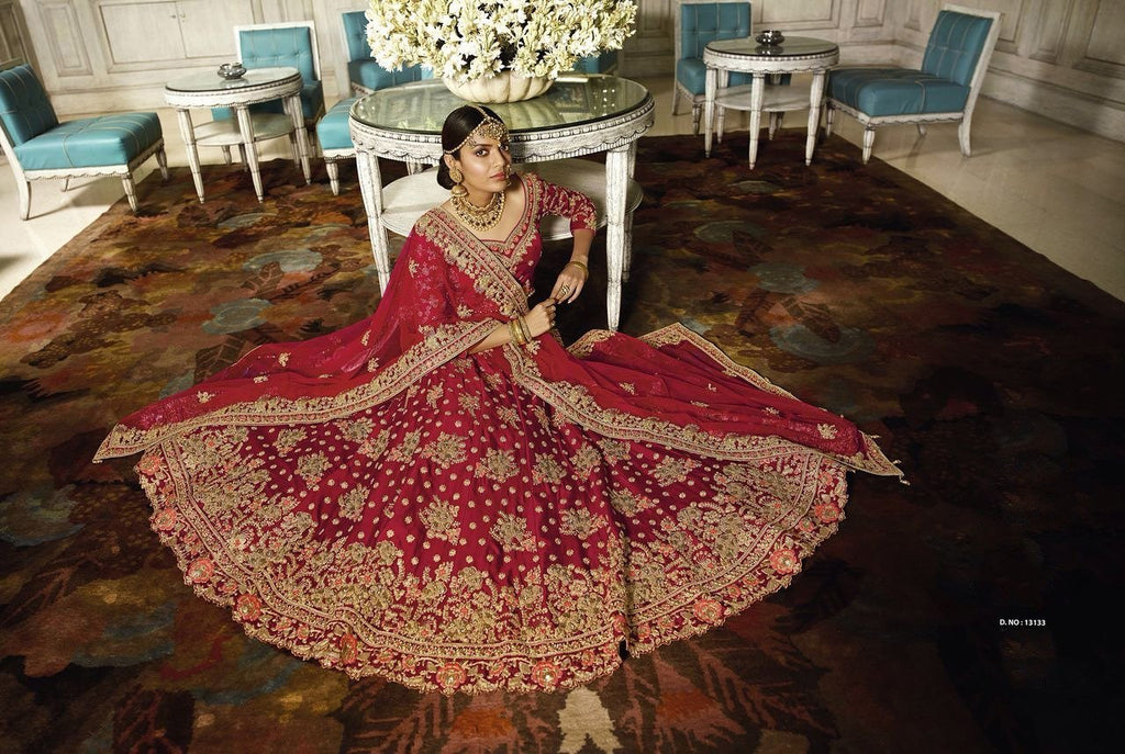 Epitome Heavy Embroidered Wedding Wear Lehenga Choli
