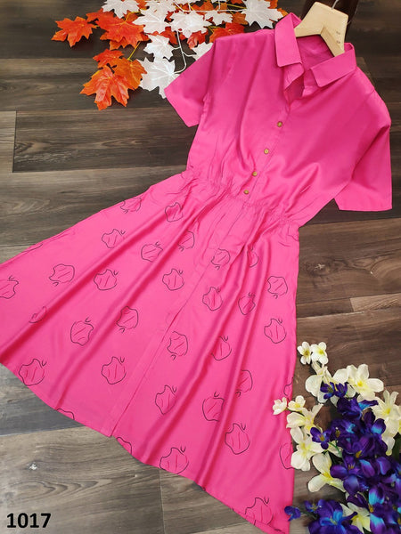 Bella Fancy Dresses US Kurti All Season Regular Block Print Reyon Kurti