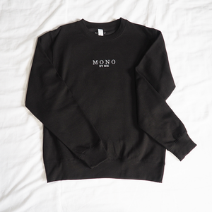 Black Embroidered Logo Sweater