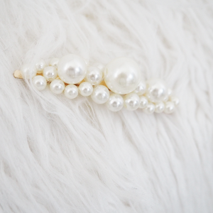Multi Pearl Embellished Hair Slide
