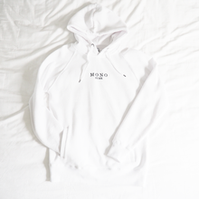 Load image into Gallery viewer, White Embroidered Logo Hoody