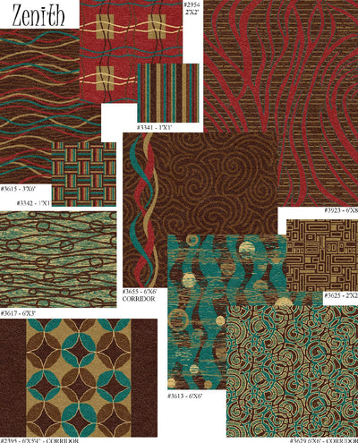 Pattern Coordinates-Custom Carpet-Talisman Mills Inc.-14 Patterns-Hiline WI