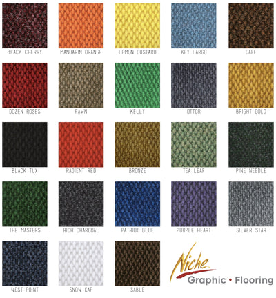 Piazza Swatches-Custom Logo Mats/Rugs-Niche Graphics-Hiline WI