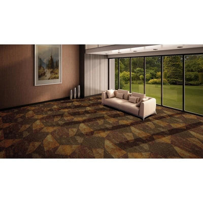 "Stained Glass-Printed Carpet-Ridgeline Print-72"" x 72""-12ft-Hiline WI"