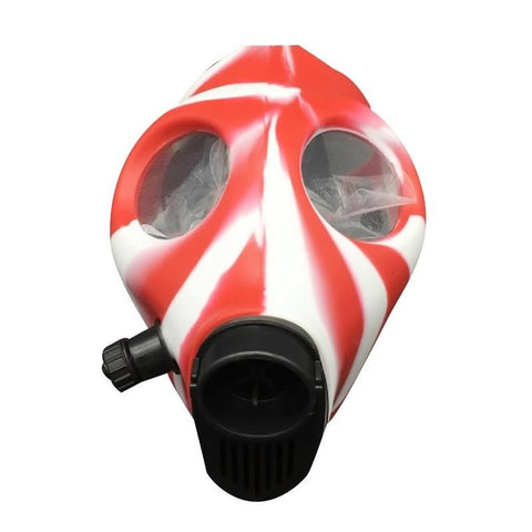 Explosive silicone protective mask, pipe, smoking
