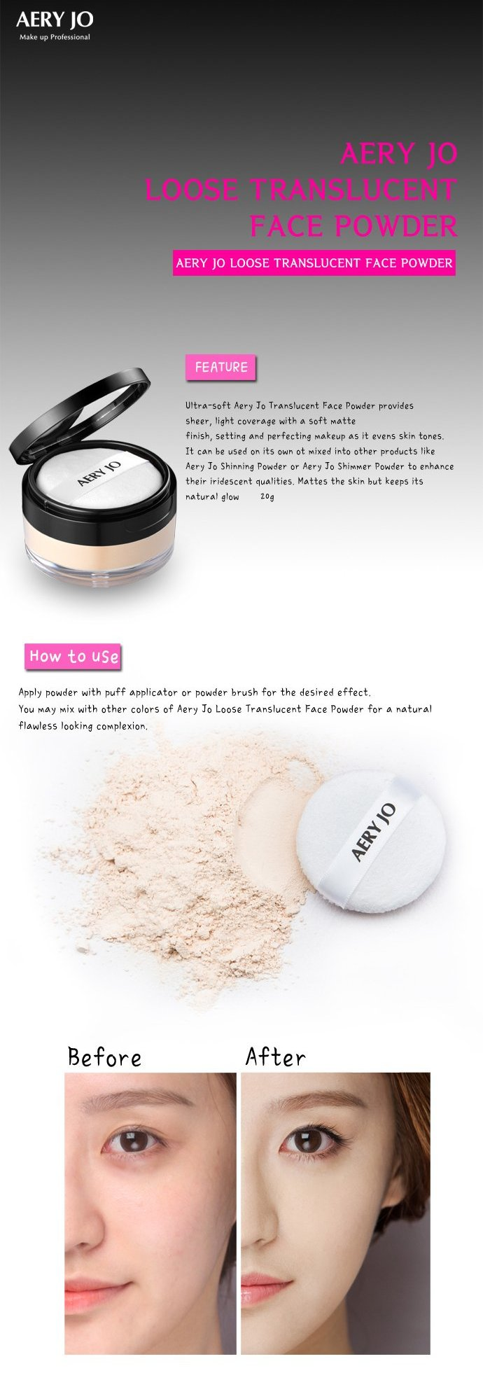 AERY JO Loose Translucent Powder