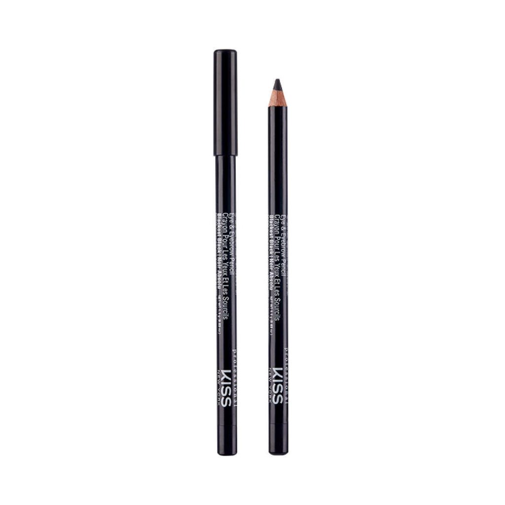 01 Blackest Black Creion-contur pentru ochi si sprancene KISS NEW YORK Eye & Eyebrow Pencil  cumpara in Chisinau, Moldova