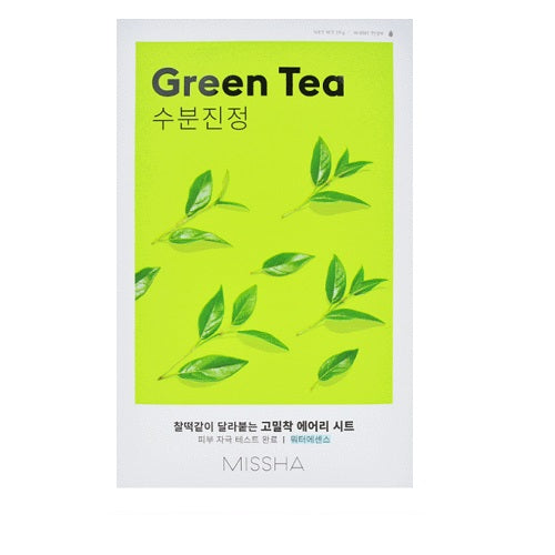 Mască facială pentru hidratare ten, Missha, Airy Fit Sheet Mask Green Tea