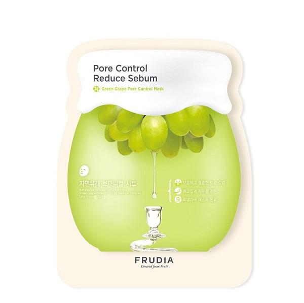 Masca faciala pentru calmare ten cu extract de struguri, Frudia, Green Grape Pore Control Mask