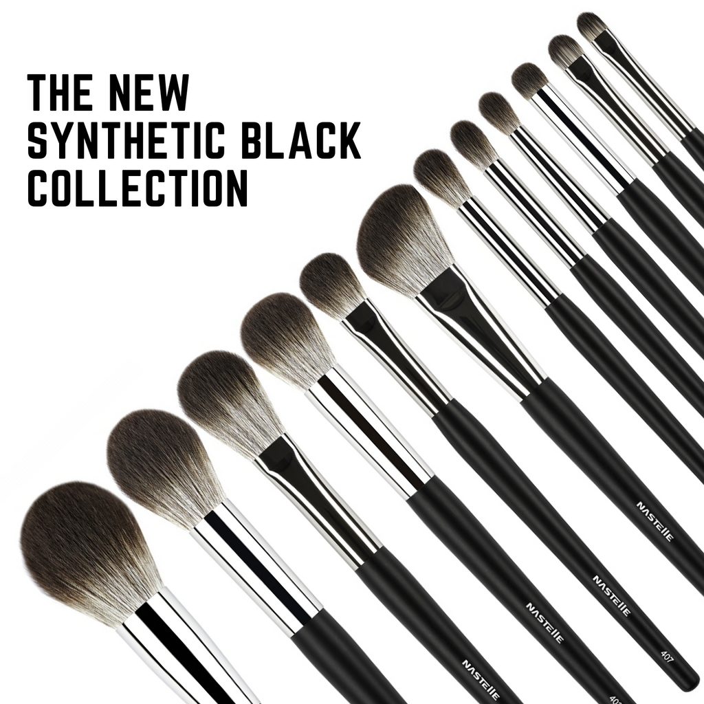 Nastelle | Kit 12 pensule Black Synthetic Collection