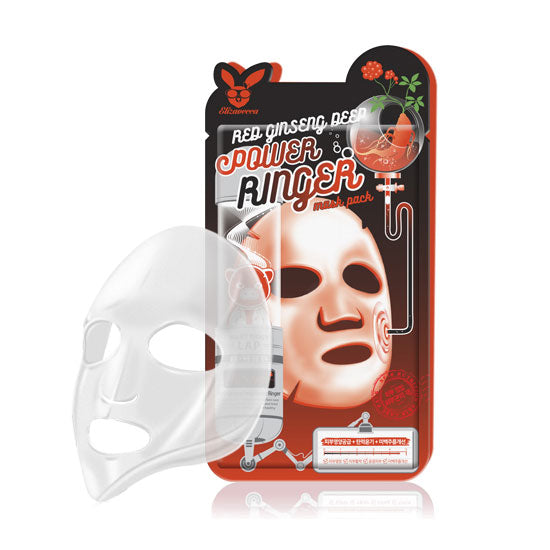 Masca pentru fata anti-rid Elizavecca Red Ginseng Power Ringer Mask Pack