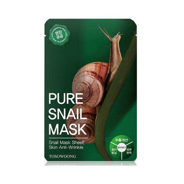 Masca faciala anti-rid, TOSOWOONG, Pure Snail Mask