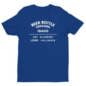 """Beer Bottle Crossing, Idaho""-  Mens' Short Sleeve T-shirt"