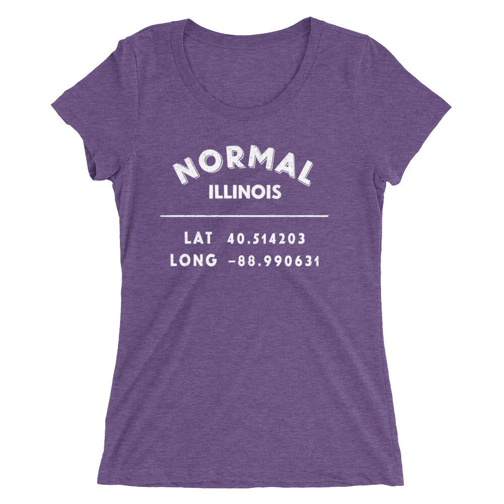 """Normal, Illinois""- Ladies' short sleeve t-shirt"