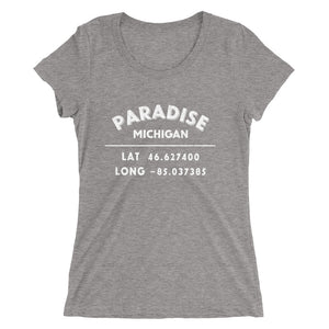 """Paradise, Michigan""- Ladies' short sleeve t-shirt"
