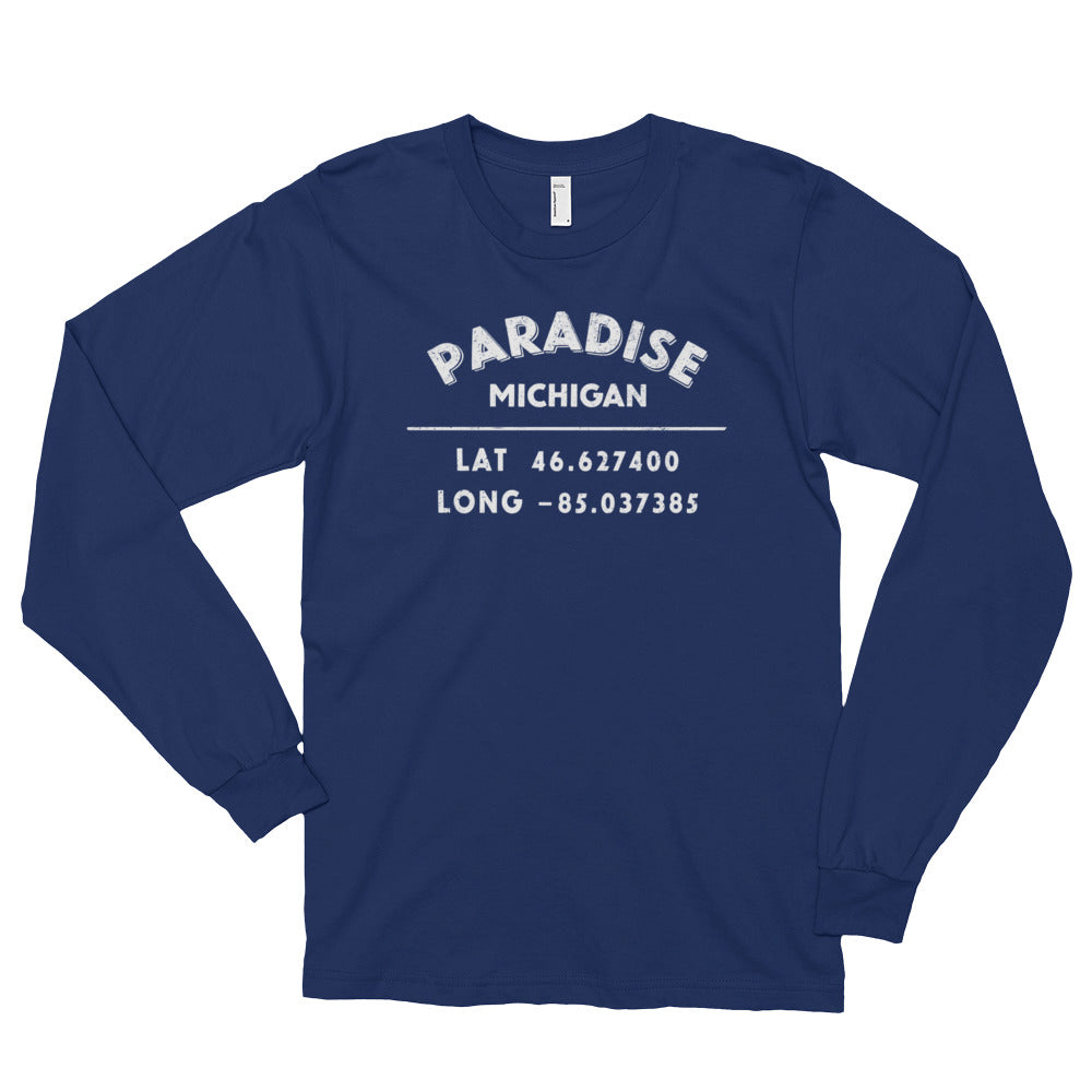Paradise, Michigan Long sleeve t-shirt (unisex)