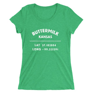 """Buttermilk, Kansas"" - Ladies' short sleeve t-shirt"