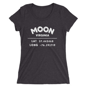 """Moon, Virginia""- Ladies' short sleeve t-shirt"