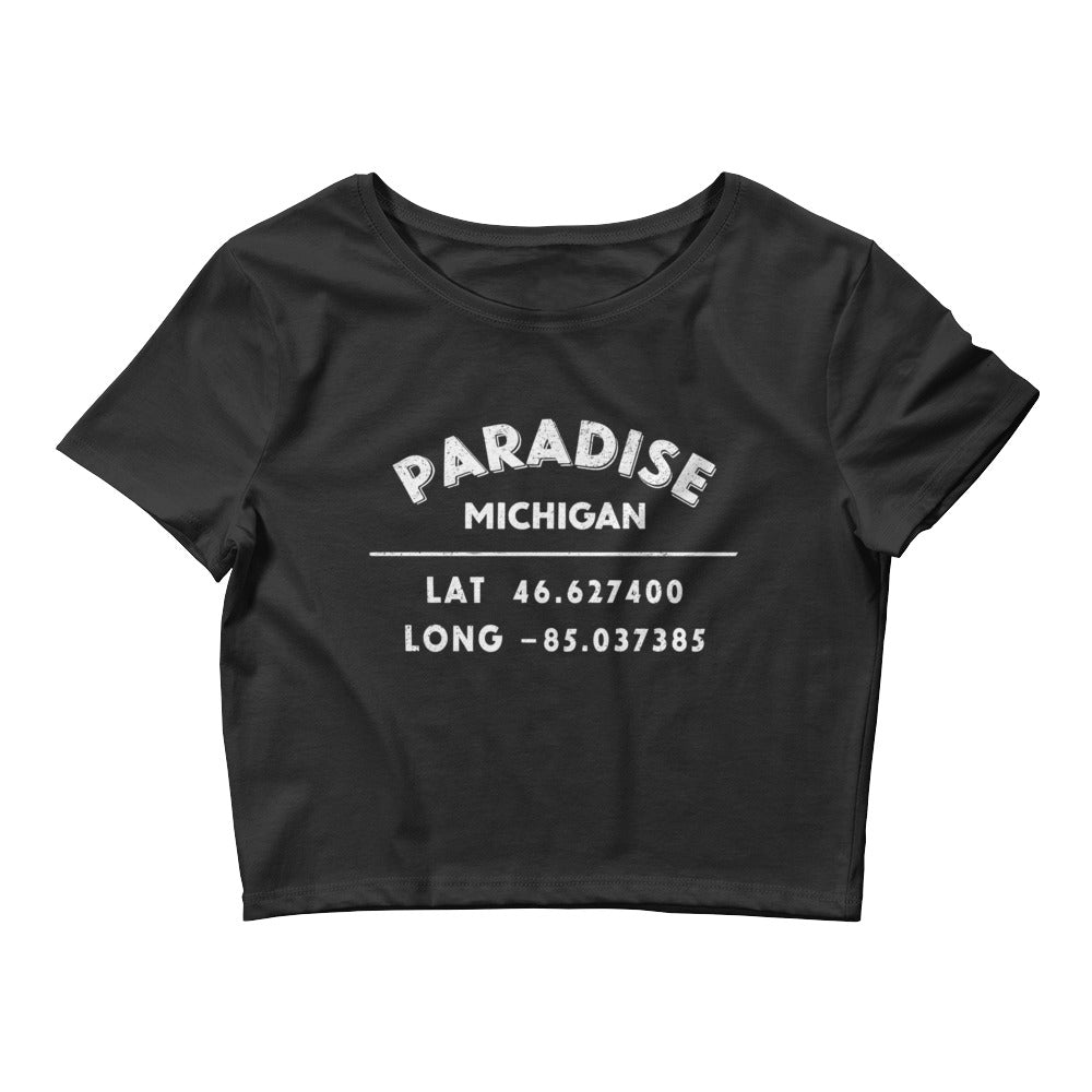 """Paradise, Michigan""- Women's Crop Tee"
