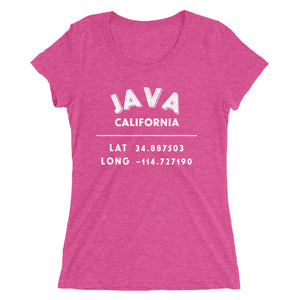 """Java, California""- Ladies' Scoop Short sleeve t-shirt"