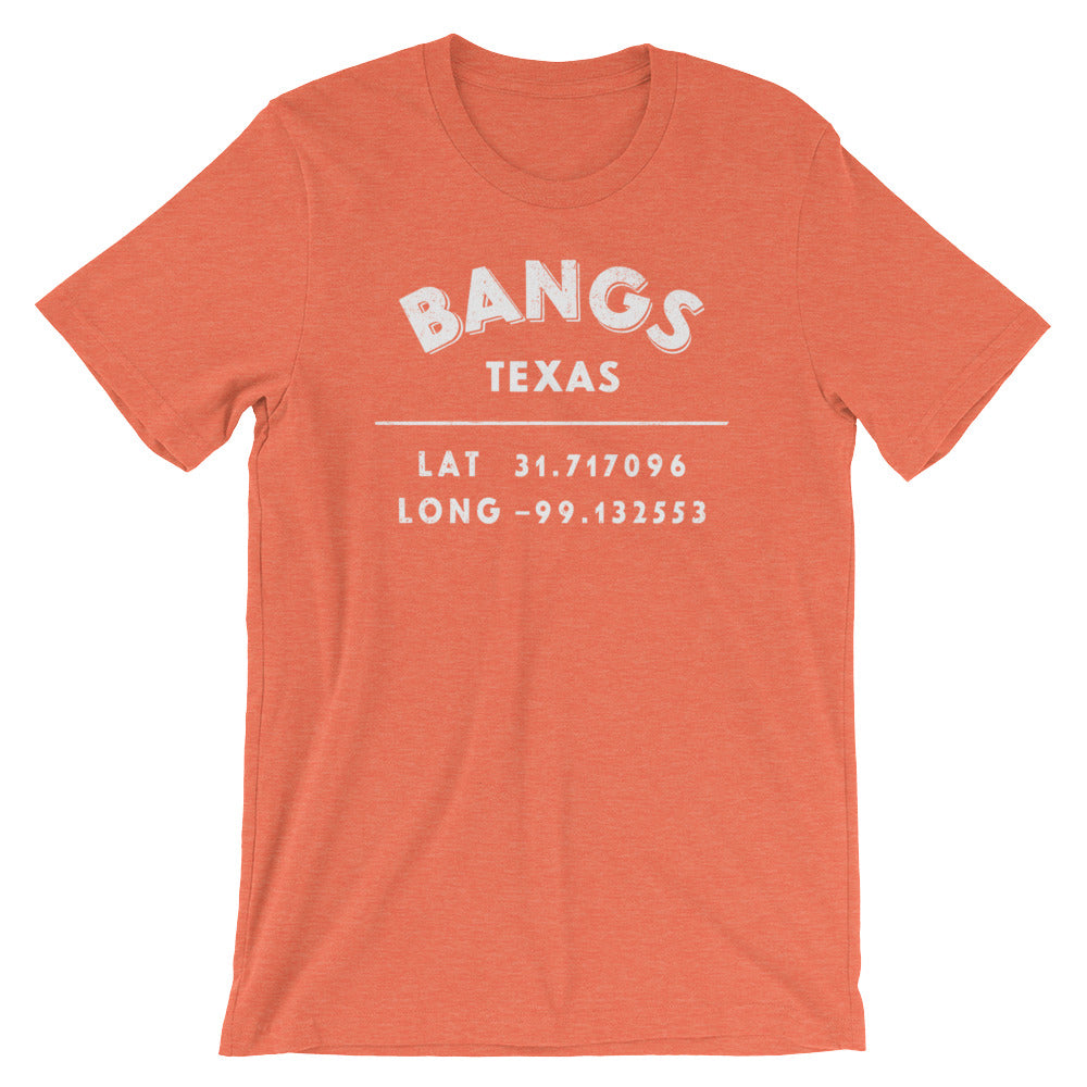 """Bangs, Texas""- Unisex Short-Sleeve  T-Shirt"