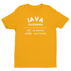 """Java, California""- Mens' Short Sleeve T-shirt"