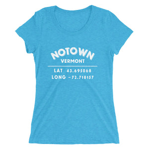 """Notown, Vermont""- Ladies' short sleeve t-shirt"