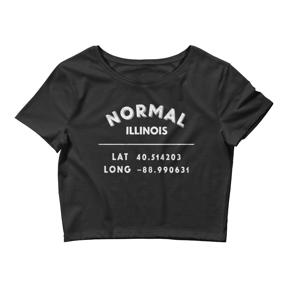 """Normal, Illinois""- Women's Crop Tee"