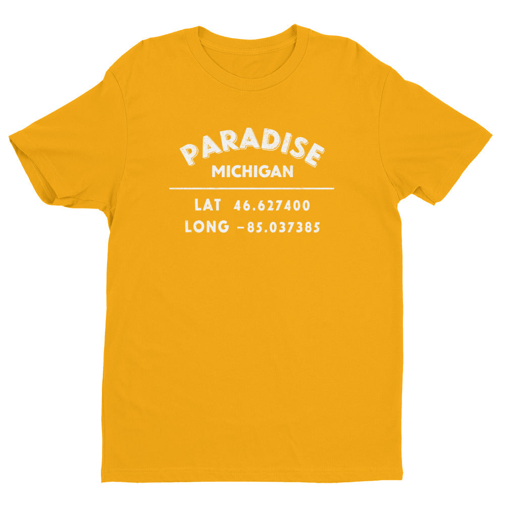 """Paradise, Michigan""- Mens' Short Sleeve T-shirt"