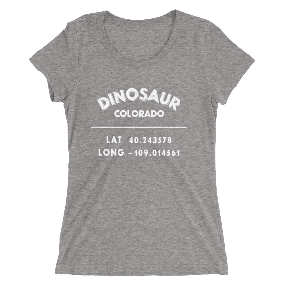 """Dinosaur, Colorado""- Ladies' short sleeve t-shirt"