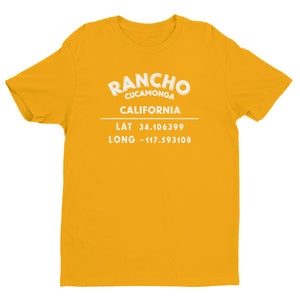 """Rancho Cucamonga, California"" Mens' Short Sleeve T-shirt"
