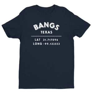 """Bangs, Texas""- Mens' Short Sleeve T-shirt"