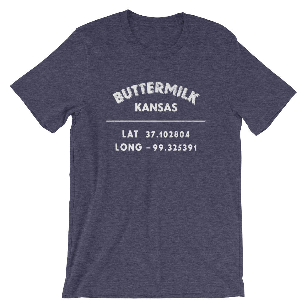 """Buttermilk, Kansas""- Unisex Short-Sleeve T-Shirt"