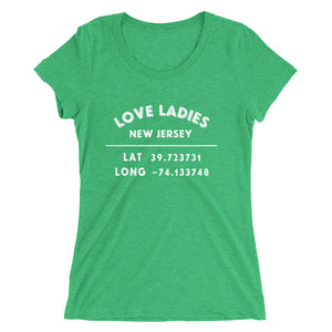 """Love Ladies, New Jersey""- Ladies' short sleeve t-shirt"