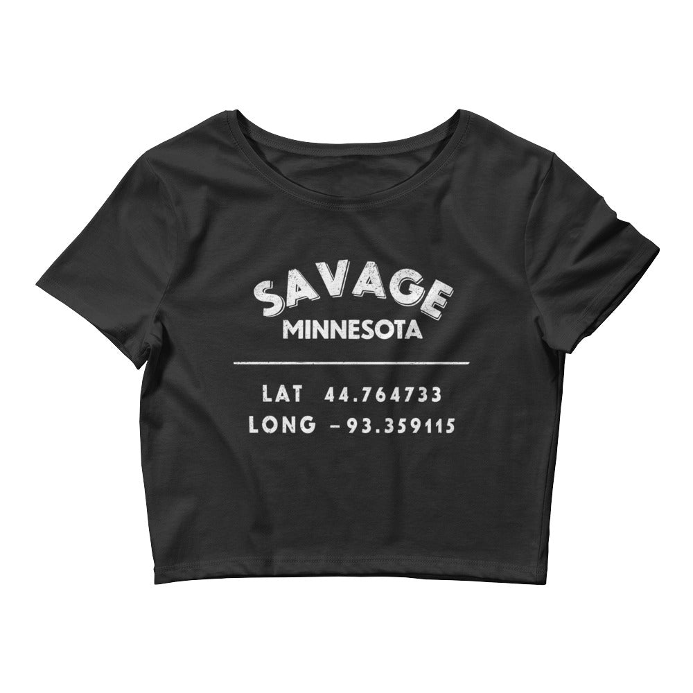 Savage, Minnesota Women's Crop Tee