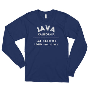Java, California Long sleeve t-shirt (unisex)